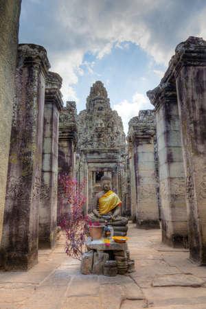 angkor thom: Bayon Temple in Angkor Thom, Cambodia