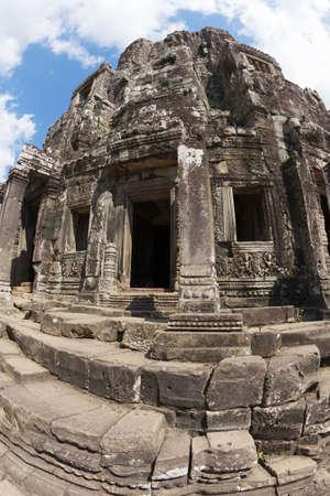 angkor thom: Bayon temple in Angkor Thom, Cambodia Stock Photo