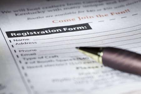 Registration form Archivio Fotografico