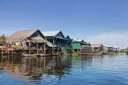 Floating fishing village Stock Photo - 16801498