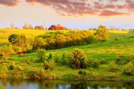 Boerderij landschap in Midden-Kentucky