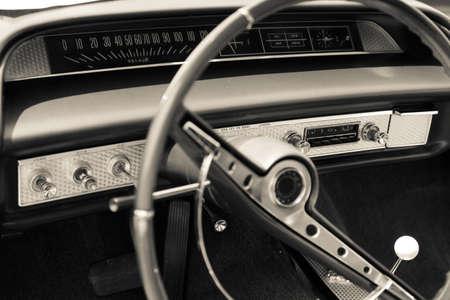 Old car dashboard photo