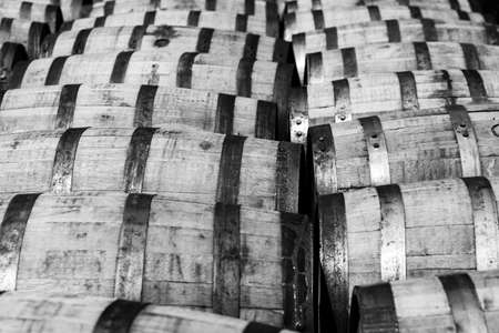 Oak bourbon barrels