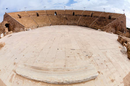 ancient israel: Roman amphitheater in Caesarea in Israel