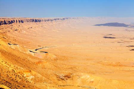 Ramon crater in Negev Desert in Israel photo
