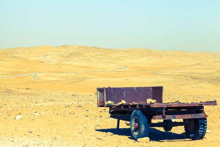 wadi: Wadi Araba in Jordan Stock Photo