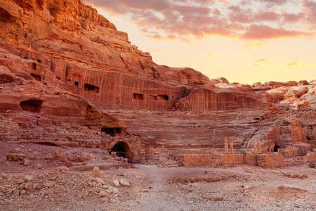 Amphitheater in Petra, Jordan photo
