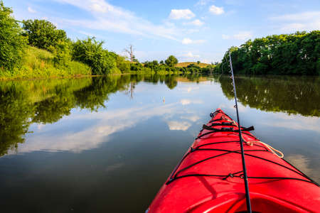 Fishing on the lake Standard-Bild