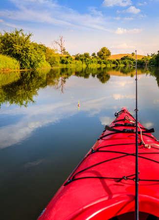 fishing gear: Fishing on a small lake