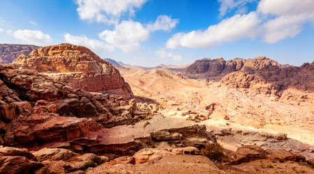 Jordanian desert in Petra Stock Photo
