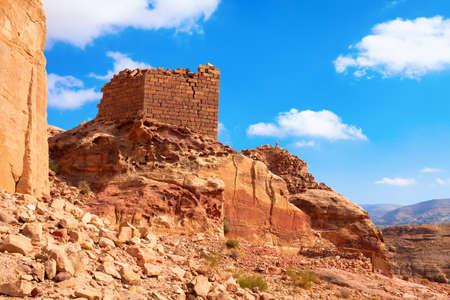 Mountain Heights Plateau in Petra, Jordan Stock Photo