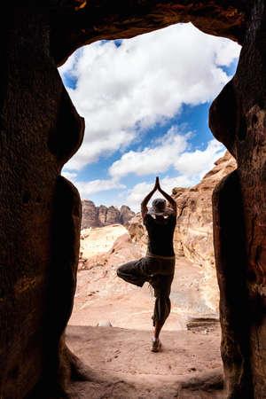 ancient yoga: Yoga in Petra