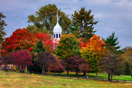 bluegrass: Beautiful fall scene in rural Kentucky Stock Photo