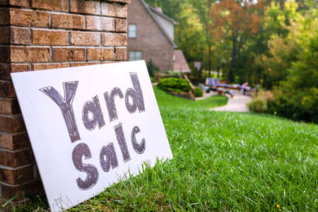 Yard sale sign photo