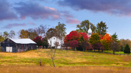 bluegrass: Fall scene in rural Kentucky