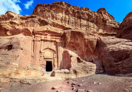 rugged terrain: Petra, Jordan