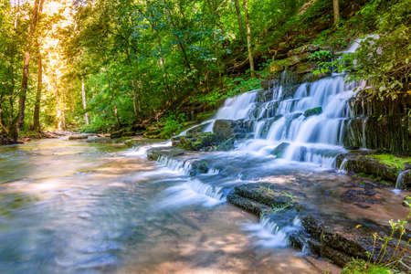 Forest waterfall photo