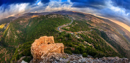 in the heights: Northern Golan Heights, Israel Stock Photo