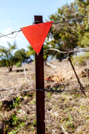 Mine field in Golan Heights in Israel