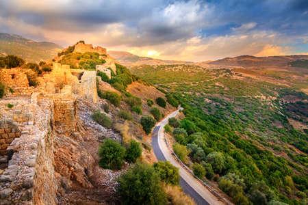 Fortress Nimrod in Israel Standard-Bild