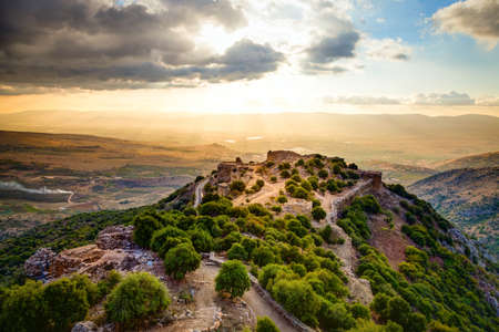 Fortress Nimrod in Israel Archivio Fotografico