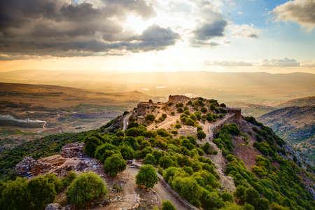 Fortress Nimrod in Israel Stockfoto