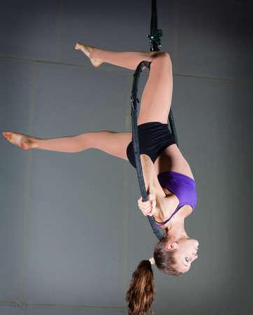 talent show: Gymnast Stock Photo