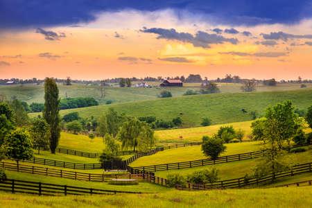 Scène van de avond in Kentucky