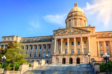 us government: Capitol building in Frankfort, Kentucky Stock Photo