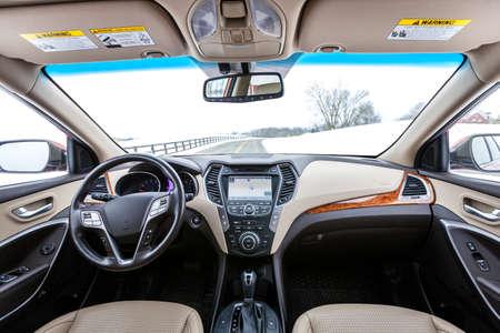 transport interior: Modern car interior Stock Photo