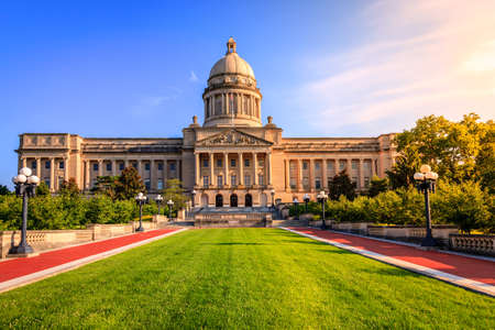 sunshine state: Capitol building in Frankfort, Kentucky Stock Photo