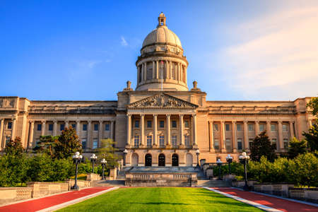 Capitol building in Frankfort, Kentucky Stock Photo