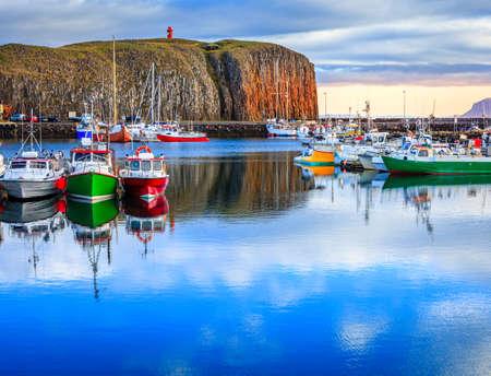 Icelandic harbor Stock Photo