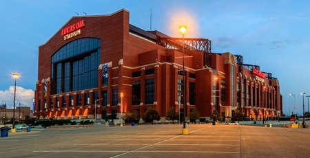 INDIANAPOLIS, INDIANA, JUNE 25, 2014  Lucas Oil Stadium  The stadium was opened in 2008 replacing RCA Dome and hosted Superbowl in 2012