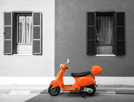 building color: Orange scooter