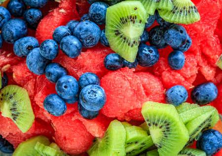fruits: Mixed fruit salad Stock Photo