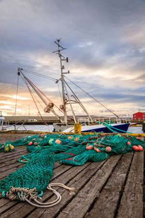 fishing industry: A small fishing port in Northwestern Iceland