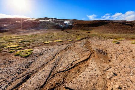 geothermal: Hverir - geothermal field in Northern Iceland Stock Photo