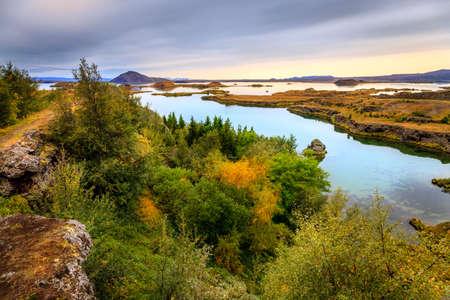 Lake Myvatn in Northern Iceland Standard-Bild