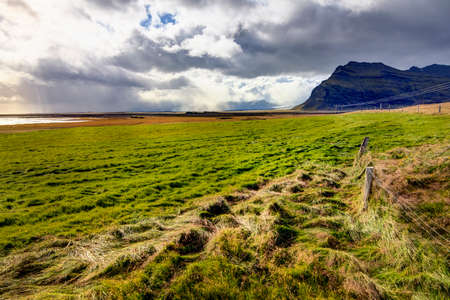 scenic landscape: Scenic landscape in southern part of Iceland