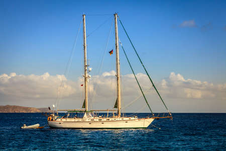 schooner: Schooner at Caribbean Sea in British Virgin Islands