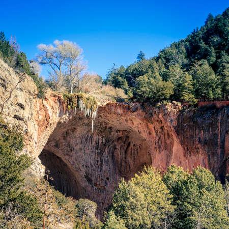 natural bridge: Natural bridge in Tonto Bridge State Park in Arizona Stock Photo
