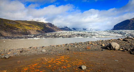 fjallsarlon: Fjallsarlon lagoon at a glacier terminus in the south of Iceland