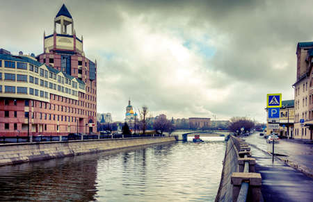 canal street: Shlyuzovaya naberezhnaya and Bypass Canal in downtown Moscow, Russia