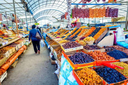 pyatigorsk: Pyatigorsk, Russia, April 3, 2015: Farmers market in the southern Russian city of Pyatigorsk is always abundant with regional produce Editorial