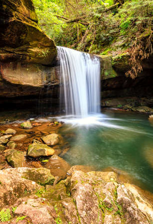 Dog Slaughter Falls in the Daniel Boone National Forest in Southern Kentucky