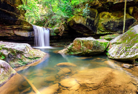 slaughter: Dog Slaughter Falls in the Daniel Boone National Forest in Southern Kentucky