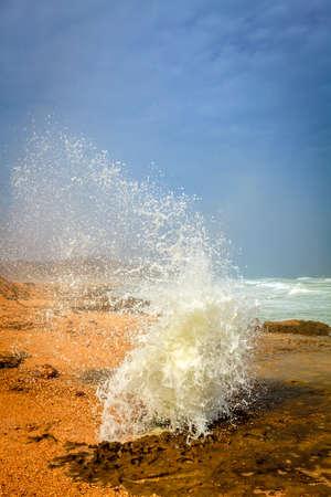 orificio nasal: Blow agujero en Al Mughsayl playa cerca de Salalah, Omán