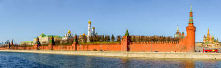 Panoramic view of Kremlin from the Moscow River, Moscow, Russia