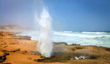blowhole: Blow holes at Al Mughsayl beach near Salalah, Oman